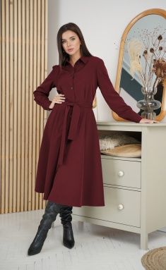 Dress Ladis Line 1274 marsala