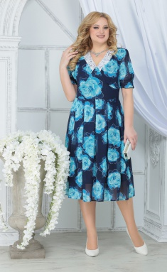Dress Ninele 7318 biryuzovye rozy