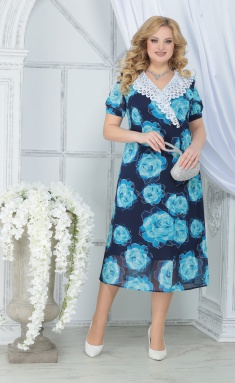 Dress Ninele 7319 biryuzovye rozy