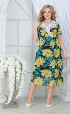 Dress Ninele 7319 zheltye romashki