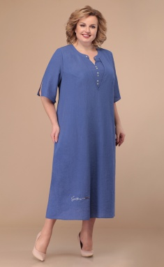 Dress Linia L B-1804 ottenki sinego