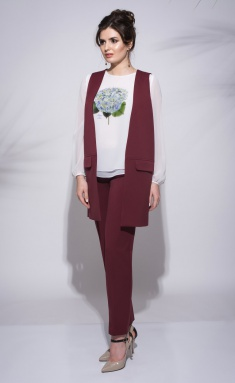 Trousers Roma Moda M202 bordo